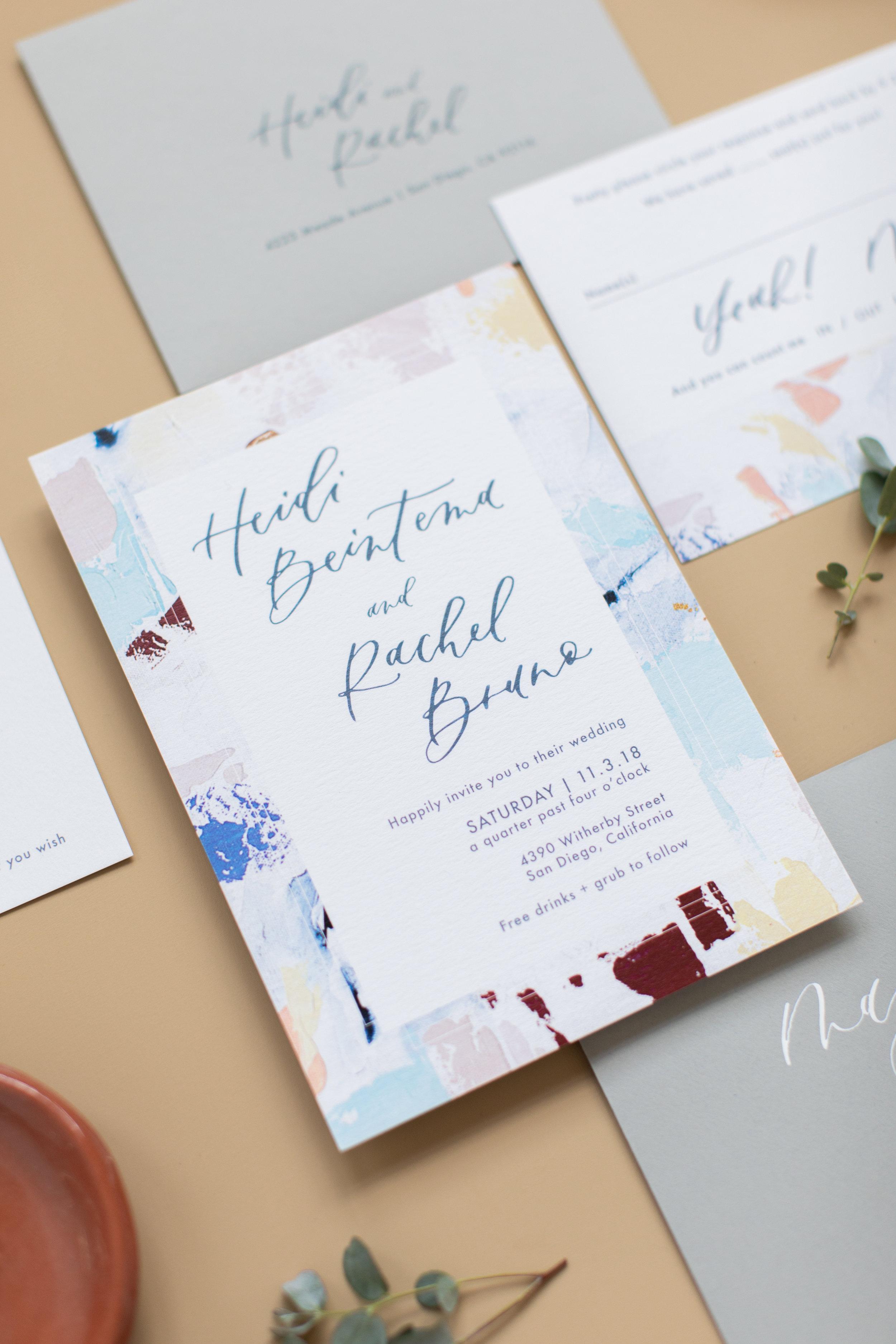 California same-sex wedding invitations