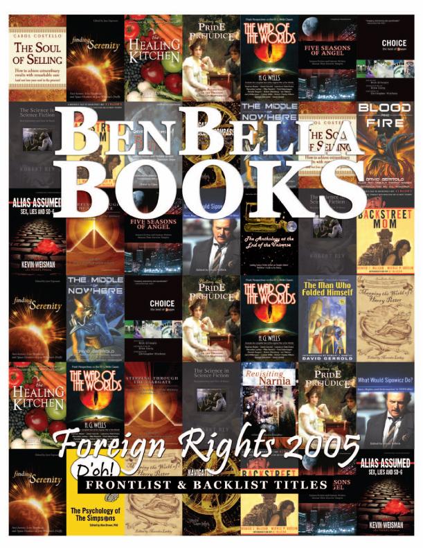 BenBella Books Foreign Rights 2005 Catalog | moxiestudio.com