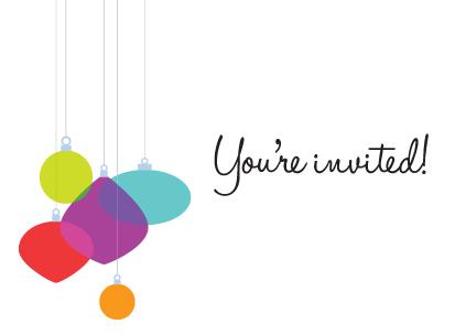 Holiday Party Invitation Design | moxiestudio.com