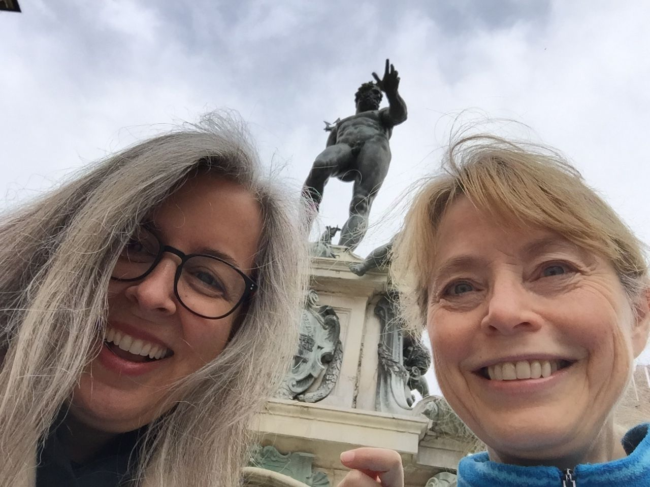 Elizabeth Dulemba & I loose on Bologna