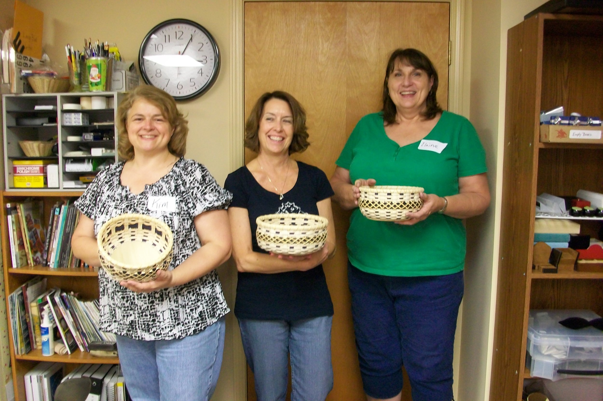 One of our recent classes. Their baskets turned out like pros!!