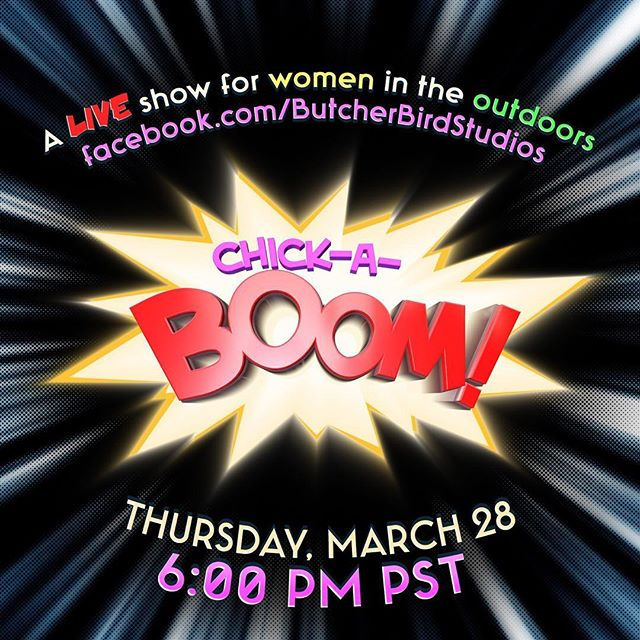 """Episode 2 of Chick-A-Boom is happening tomorrow, March 28th at 6pm PST!  Topic-""""The 3 P's"""" aka Peeing, Pooping, and Periods in the Outdoors.  Join Cyndi Wyatt - Ramirez, Marilee Valkass, Saveria Mazzola Tilden and our special guest Liz Thomas to ask questions and participate in a fun FB lively conversation! (Pun intended 😂) Have questions you want answered. Put them in the comments below!"""