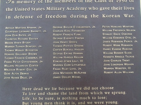 Class of 1950 Memorial in Korea