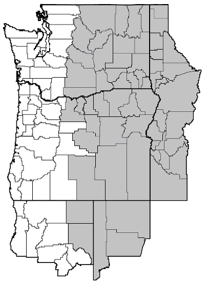 Lomatium grayi (Gray's biscuitroot) map.png