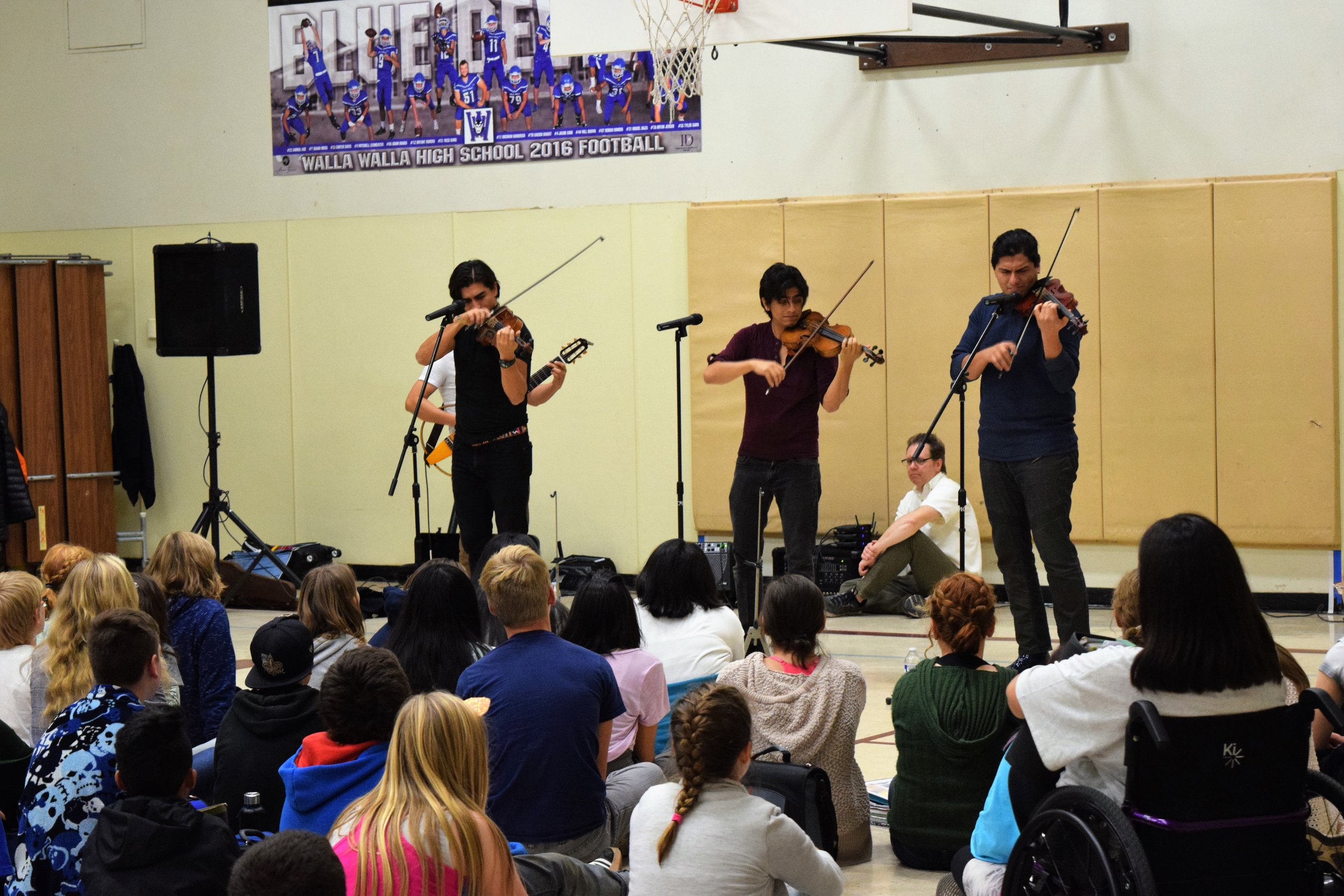 The Villalobos Brothers at Pioneer Middle School