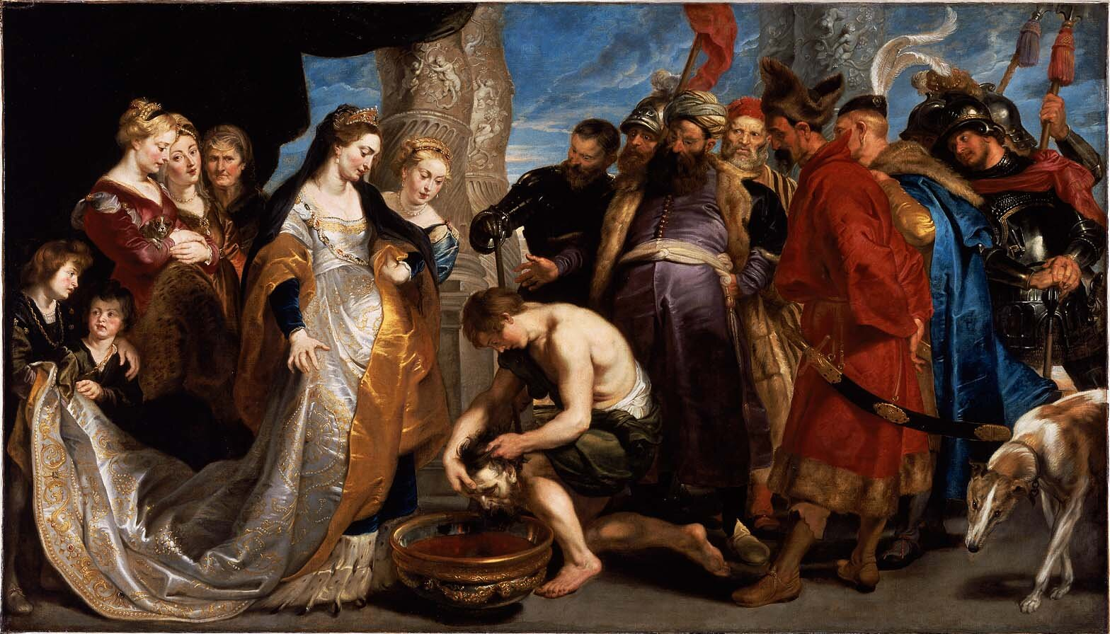 Tomyris with the head of Cyrus the Great