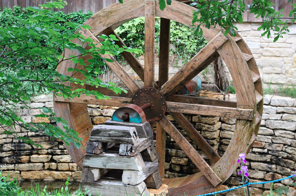 The Gristmill, a water powered stone flour mill is only one of many amazing traditional processes that can be seen at the Village