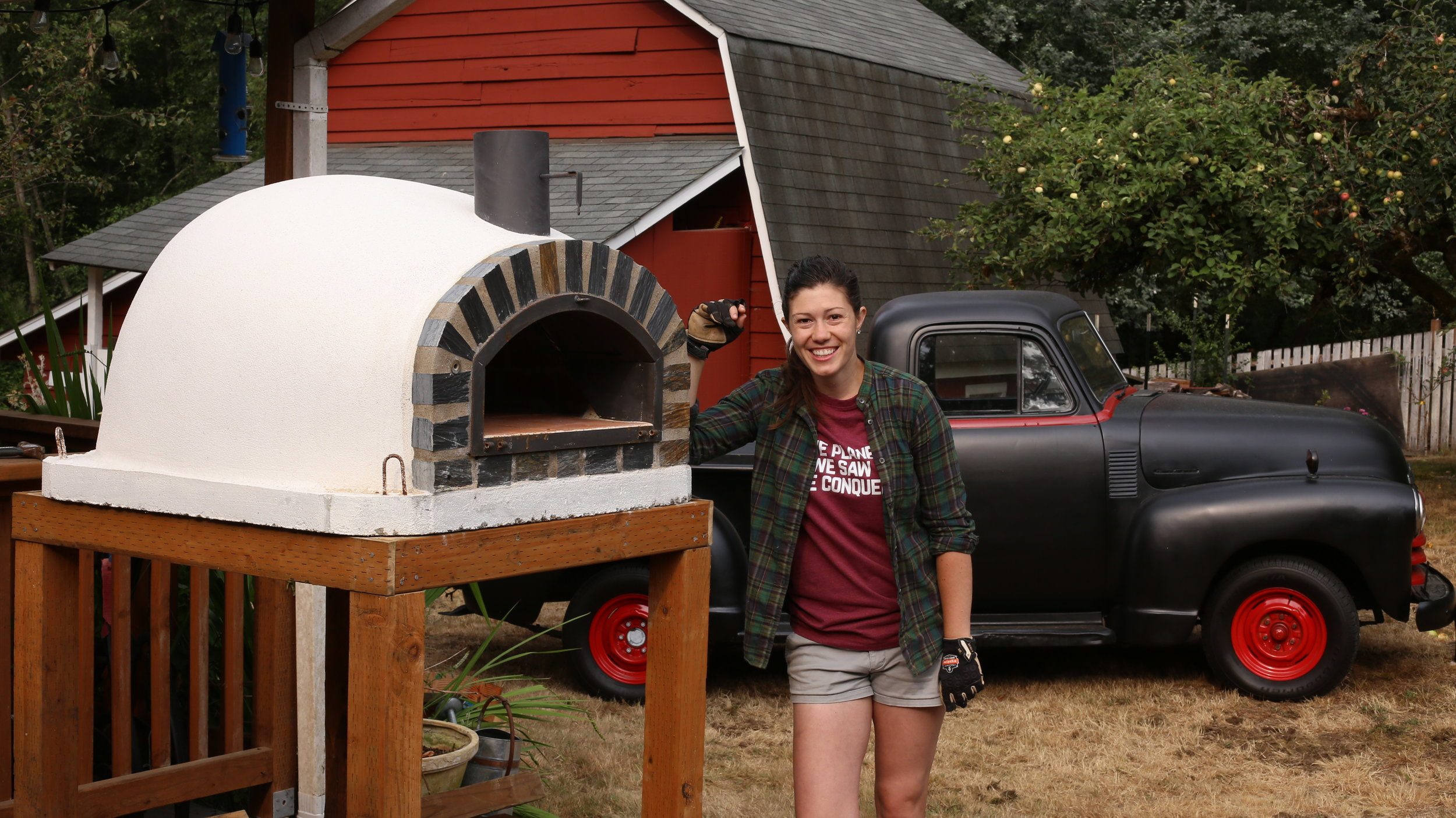 Outdoor Kitchen Update Wood Fired Pizza Oven Anne Of All Trades