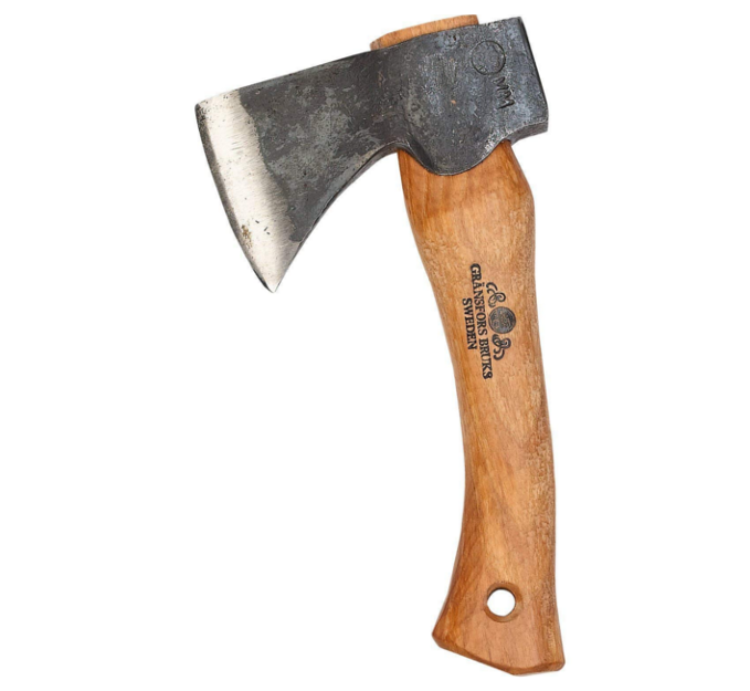 Carving Hatchet - The distinguishing feature of the Gränsfors Hand Hatchet is its short handle relative to the size of its head.