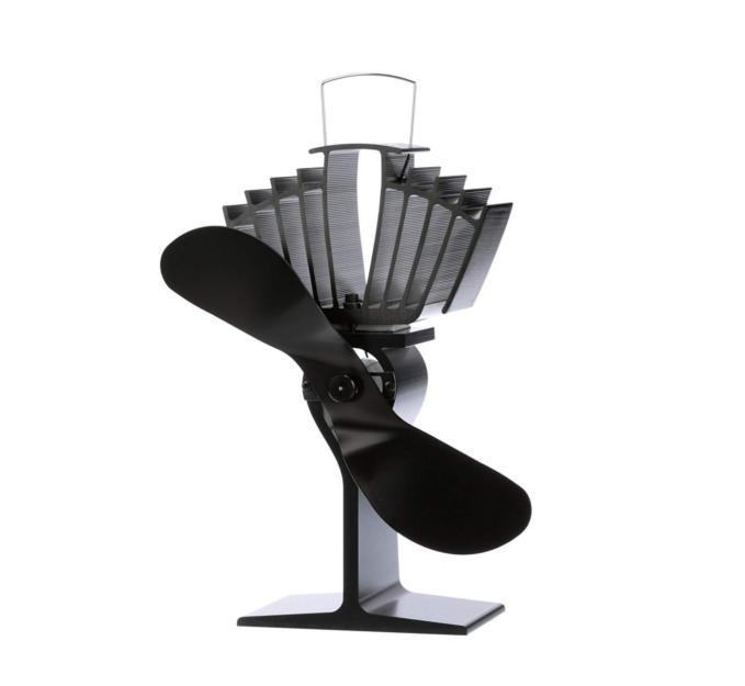 Wood Stove Fan - This heat-powered stove fan is designed to sit on top of a free-standing stove and circulate warm air increasing your comfort up to 38% faster.