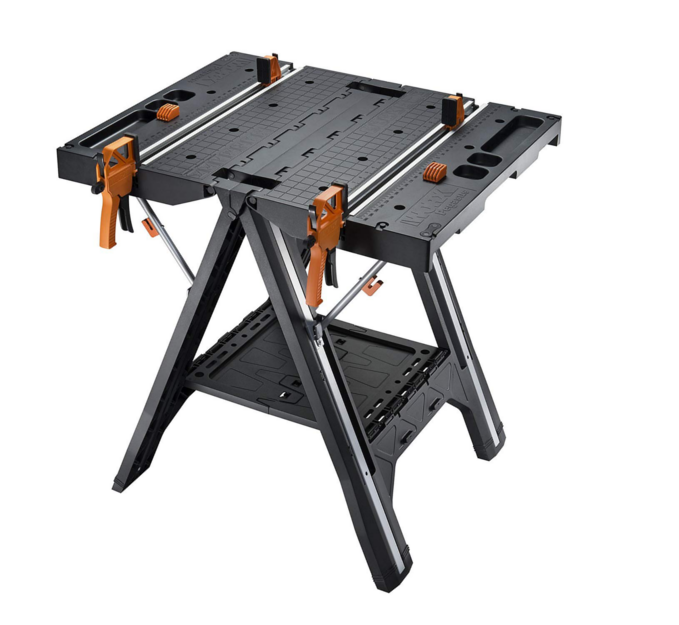 Work Table - Cut, sand, paint, varnish… accomplish all of your tasks a little more easily with Pegasus, the most versatile work table and sawhorse on the market.