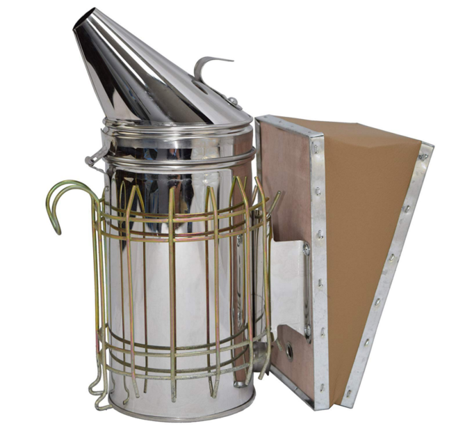 Hive Smoker - BEE HIVE SMOKER made of stainless steel produces safe cool smoke to help calm bees and protect from stings during hive maintenance.