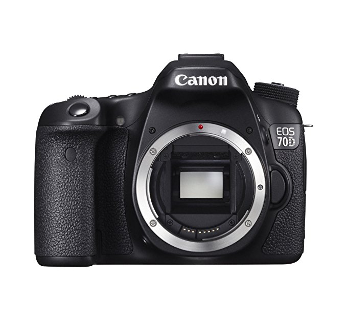 SLR Camera - The Canon 8469B002 EOS 70D 20.2MP Digital Camera features a DIGIC 5+ image processor to ensure high-resolution images.