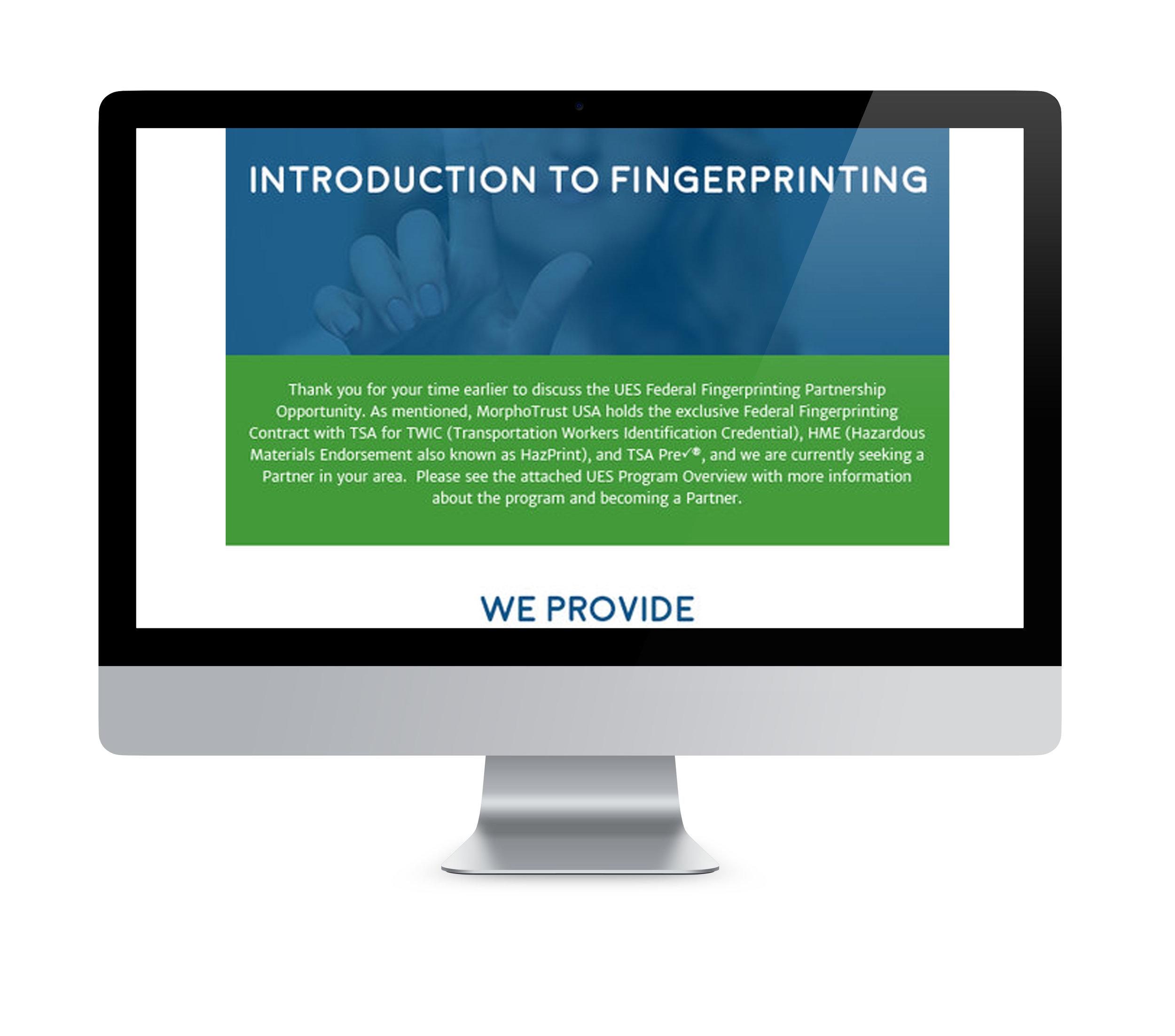 MorphoTrust USA  |  Partner Procurement Email Design & Implementation