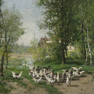 """Defaux - """"Flock of Geese, Montigny sur Loing"""""""