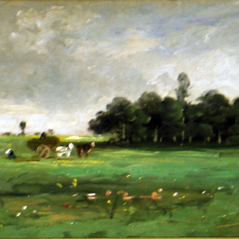"Daubigny - ""Horses at Rest"""