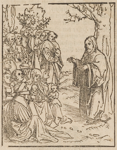 The Sermon on the Mount, woodcut by Lucas Cranach the Elder, 1582