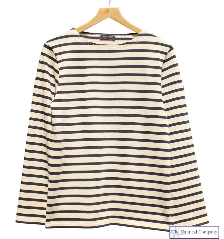 Established in Normandy, France, 1889. Using locally spun and dyed wool, produced garments originally intended for deep sea fishermen. Most iconic item to date is the Breton wool fisherman's sweater, both warm and virtually waterproof.  St James  usses only natural raw materials in production of all their clothes.