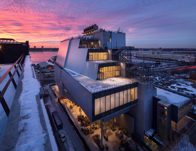 Whitney Museum of American Art, February 2014. Photograph ©Nic Lehoux  Situated between the High Line and the Hudson River in Manhattan's Meatpacking District, the new building will vastly increase the Whitney's exhibition and programming space, offering the most expansive display ever of its unsurpassed collection of modern and contemporary American art. Opens May 1, 2015