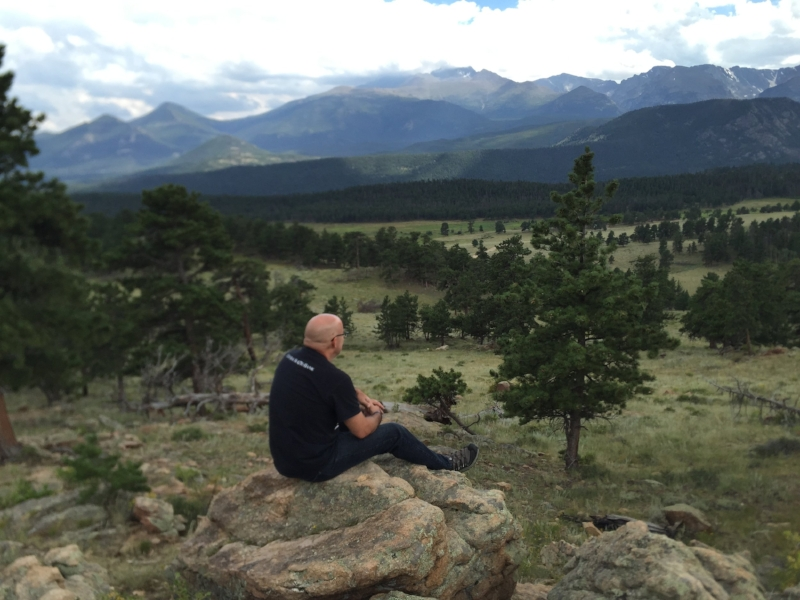 Joe in the Rocky Mountain National Park talking with God