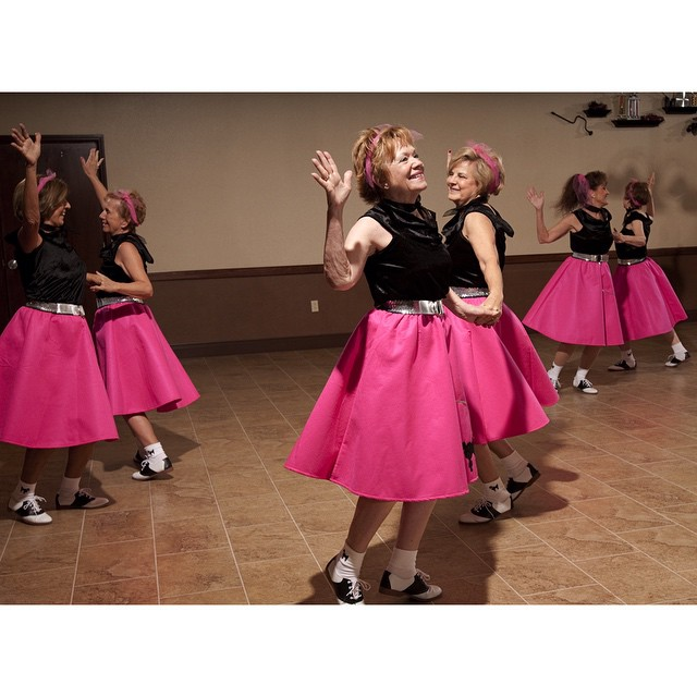 #ICauseBeautiful #Florida #stereotypes #retirement #seniorstereotype #TheVillages #Portrait #Photography #selfrealization #happiness The Shaka Crew Dance Company, led by instructor Violet Ray, rehearses for an upcoming performance at a neighborhood recreation center. When I saw these ladies in their sock hop skirts it made me think about how many of them were reliving a time from decades ago from their youth, a time not revisited by many in their age group. In their own way they are keeping the past alive for those who didn't @wanderluster800