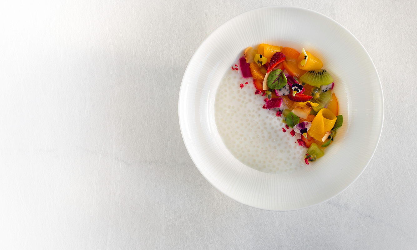 Tapioca Pudding, Seasonal Tropical Fruits