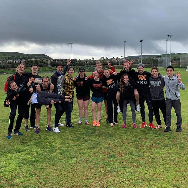A different take on the reverse tri Zot Trot, but our @sctriathlon triathletes killed it! Major kudos to @uci_tri for persisting in all this rain and organizing it! Congratulations to all the participants and teams who raced today!  Shoutout to @itssarahsout for a top 5 finish in the women's collegiate race, and Mark Hermes for a top 10 finish in the men's collegiate division!  #triathlon #aquathlon #zottrot #runswimrun #triathlontraining #swimming #running