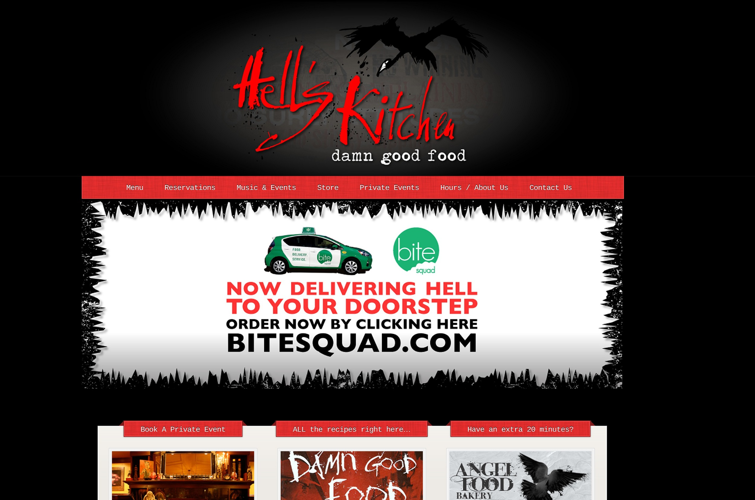 An example of a restaurant partner working with Bite Squad to promote their new delivery option online.