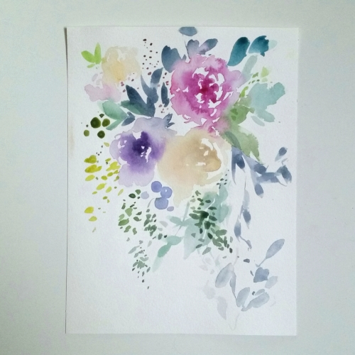 watercolour floral painting