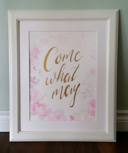 Watercolour Floral Wedding Sign