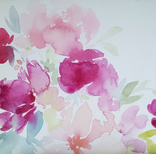 Floral Watercolour Thank You Card