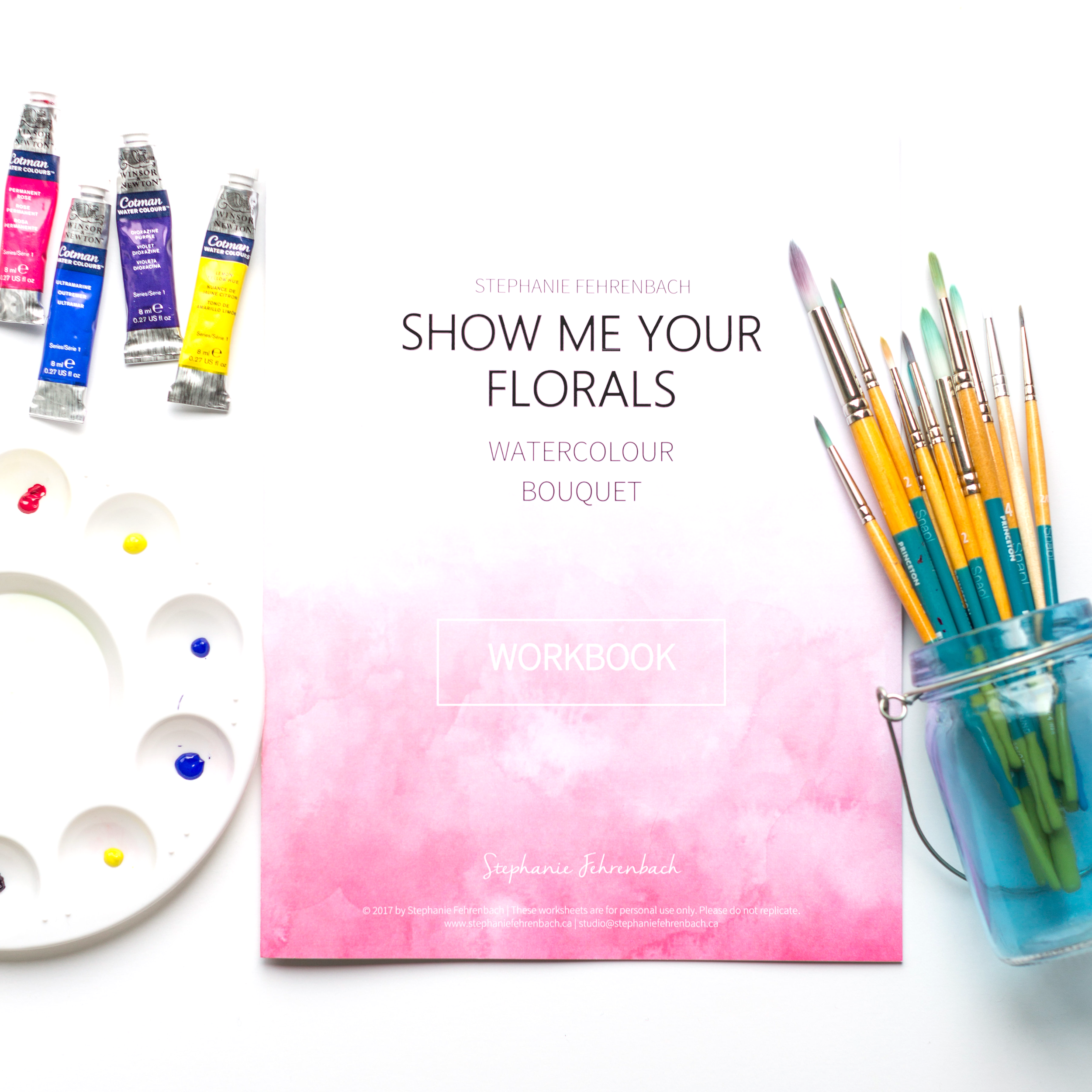 Floral Bouquet Workbook