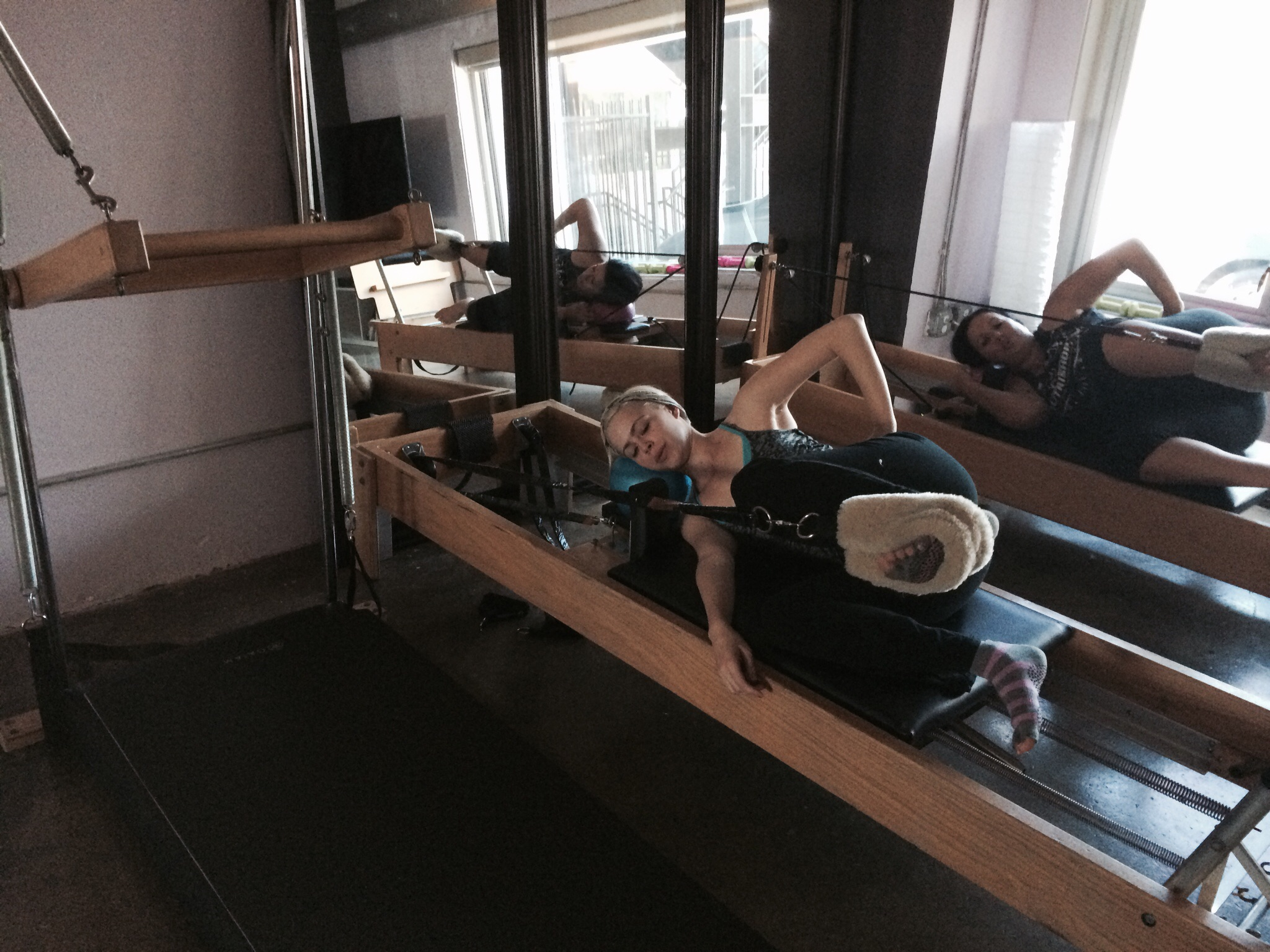 Leg circles on the reformer