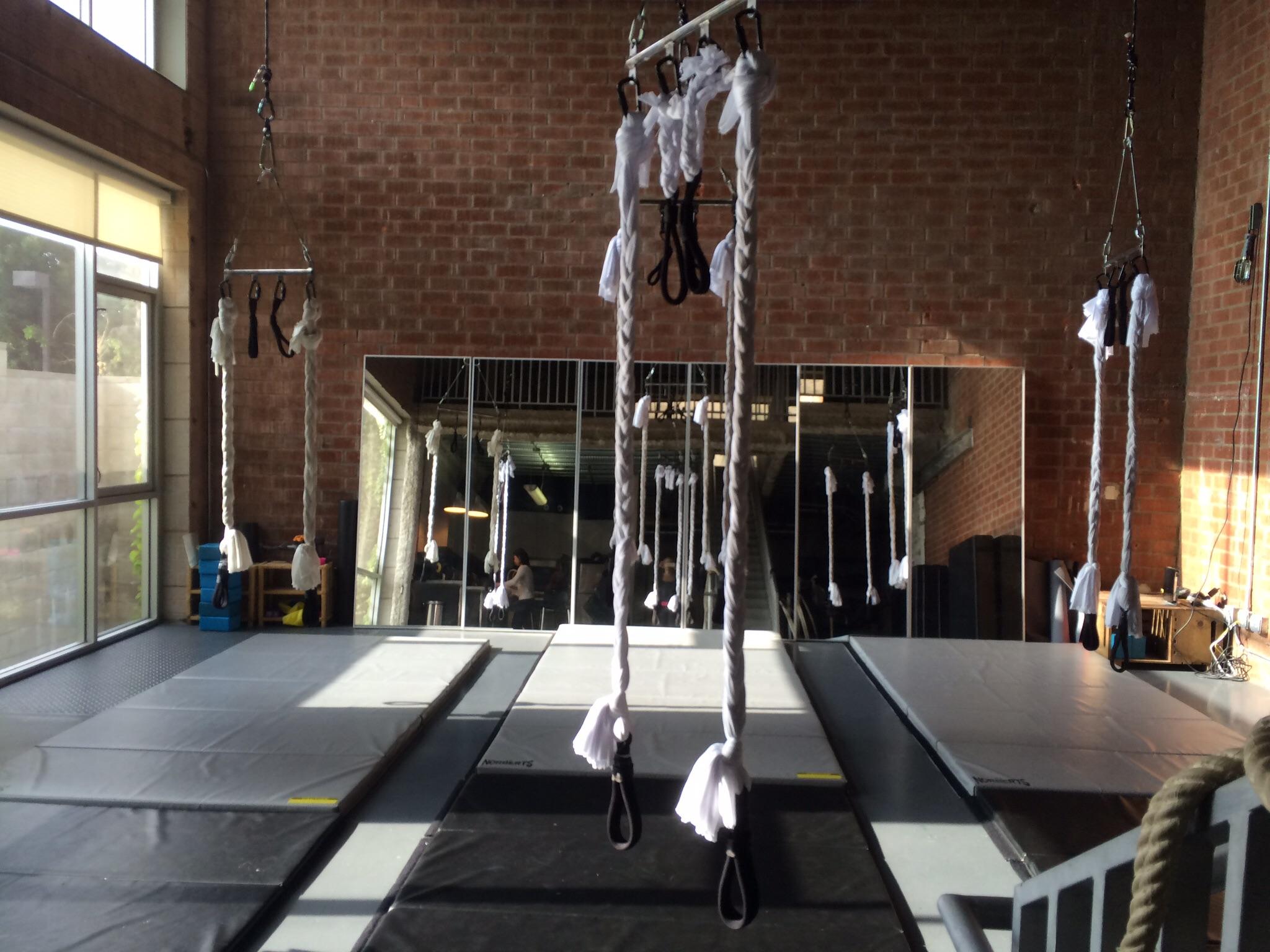 Trapeze bars!