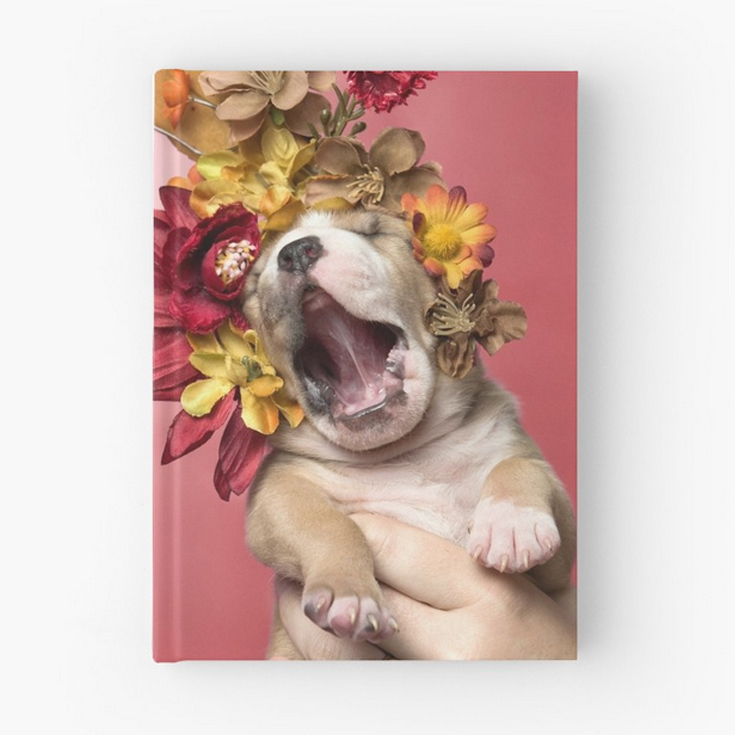HARDCOVER JOURNAL.  5.2x7.3in.. 128 pages. 90gsm paper stock. Wrap around hardback cover. Fully printed design on the front and back. Available in a selection of ruled, graph or blank pages.
