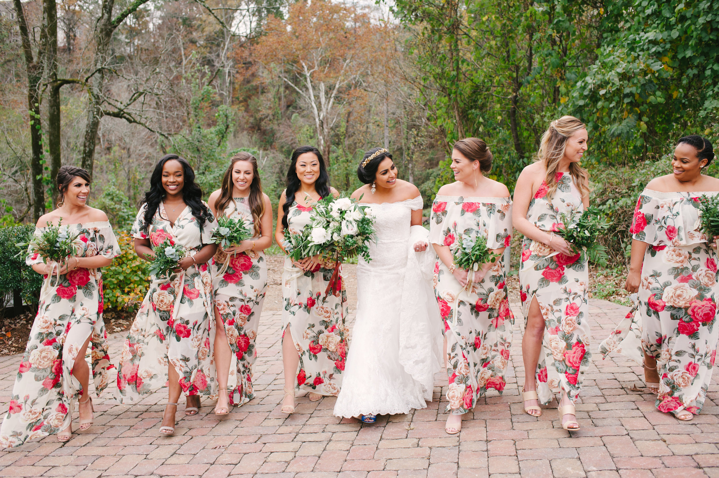 I love how flowy the dresses are, and styles are awesome too with just the right height for the slits up the sides ;) Hair by Renee Locher Makeup and Hair.