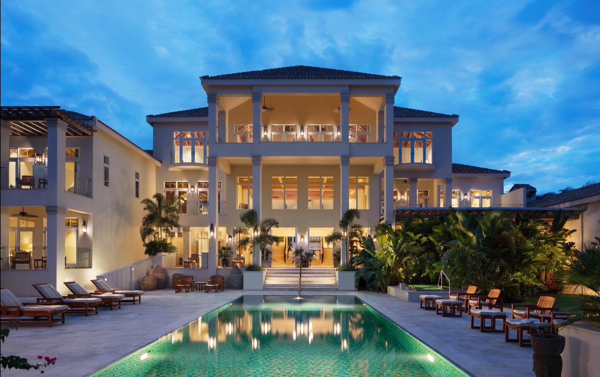 A tropical grand mansion in Anguilla, British West Indies