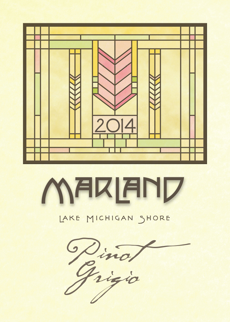 MARLAND PINOT GRIGIO - Aromatic and charming, this wine is patterned after the delectable wines of the Italian Alps. A mélange of pink grapefruit, white peaches, and pineapple overlay a slight minerality. Zingy and refreshing.
