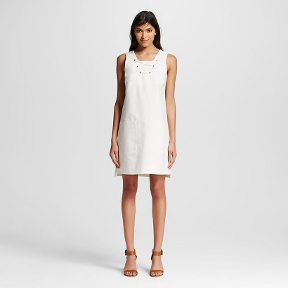 Who What Wear lace up Dress available at Target or Target.com http://www.target.com/p/women-s-lace-up-shift-dress-who-what-wear/-/A-50379754#prodSlot=medium_1_2&term=lace+up+dress+who+what+wear
