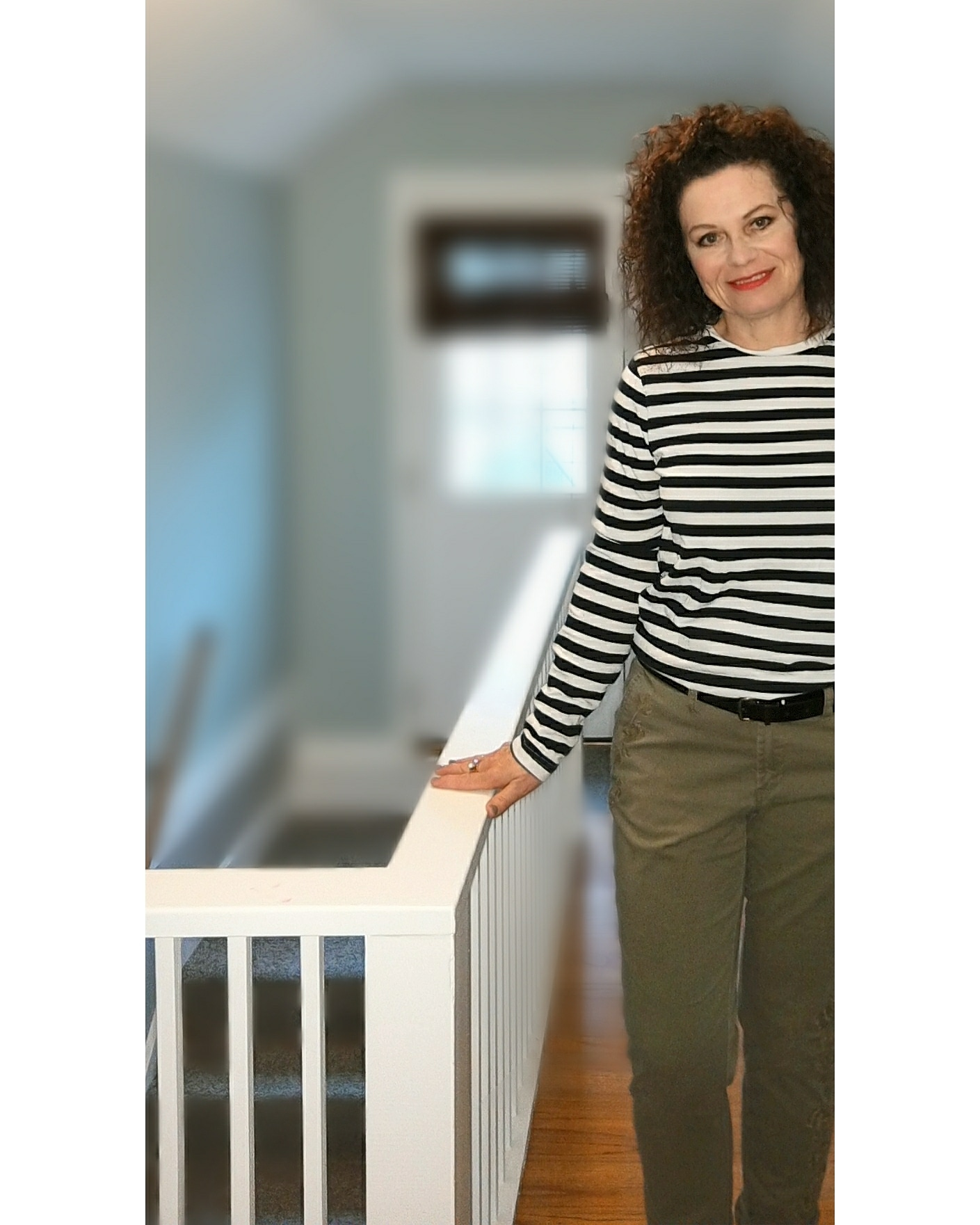 Stripes - Stripes are one of those patterns I don't go to very often. In this case, I raided my college-age son's give away pile and decided to keep the shirt for myself. I paired it with a great pair of khakis I purchased last fall from the