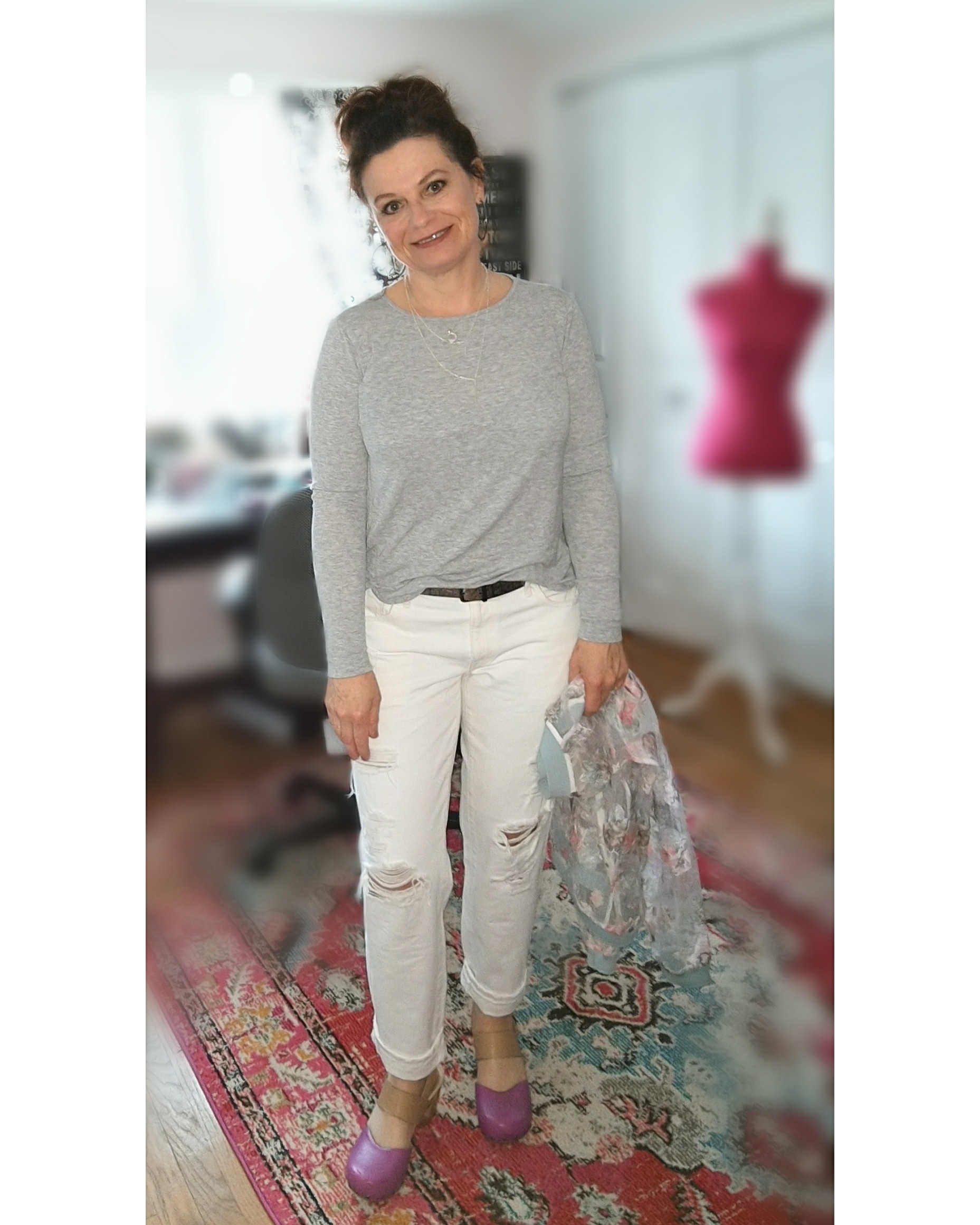 The White Jean tryout.... - I have avoided white jeans, well, forever. I am happy to assist a client find the perfect pair but I've never wanted to wear them myself. Well, I'm giving it a go this year. We will see if they make it.I have linked similar pieces below. The link to the jeans are the exact jeans I'm wearing. The others are similar as they are all past season goodies.