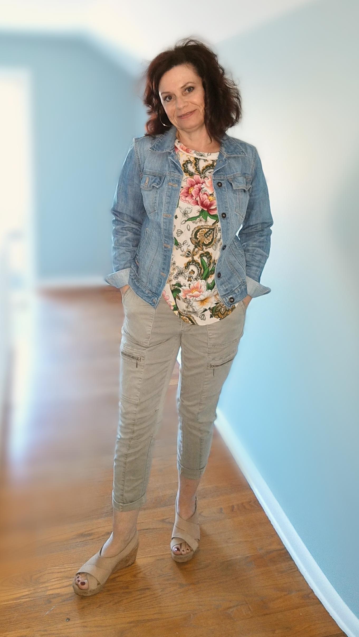 floral tank khakis jean jacket.png