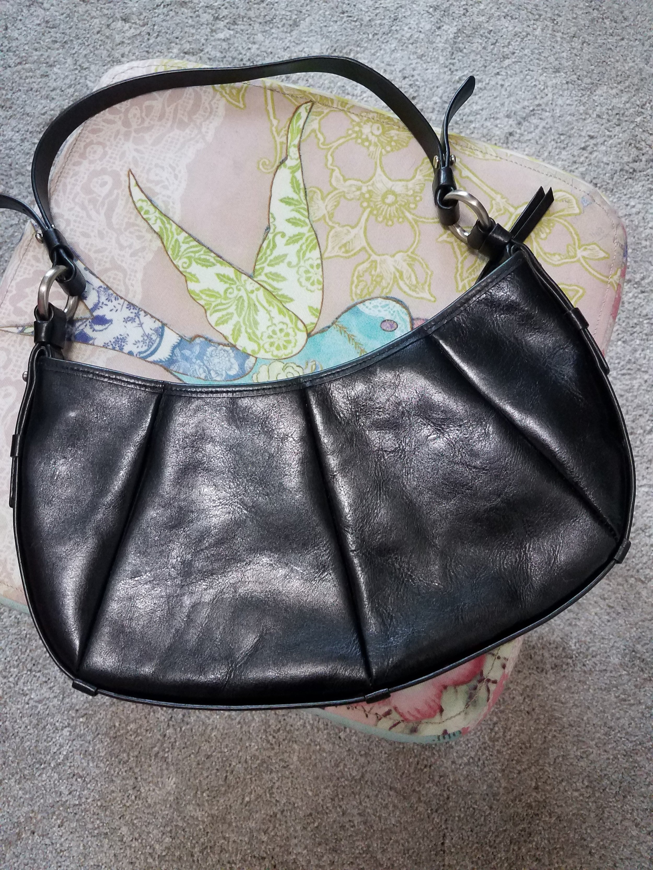Franco Sarto mini - I purchased this bag so many years ago I don't even remember.  The shape of this bag is probably closest to the high-end designer bag I'm seeing in all the