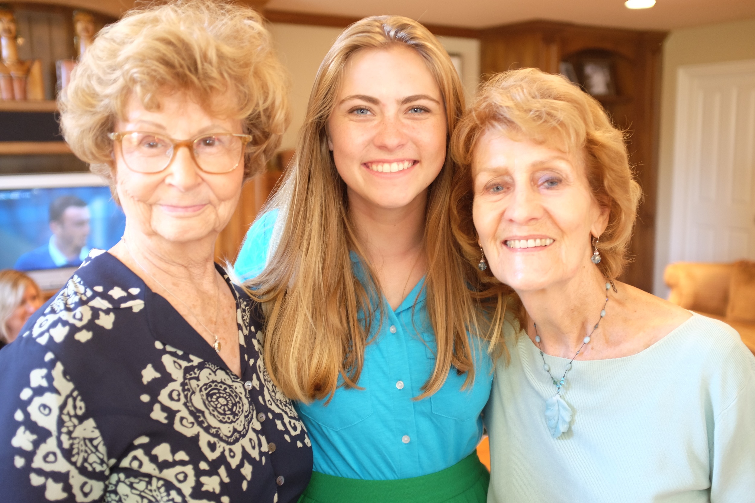 Camille with her grandmothers.
