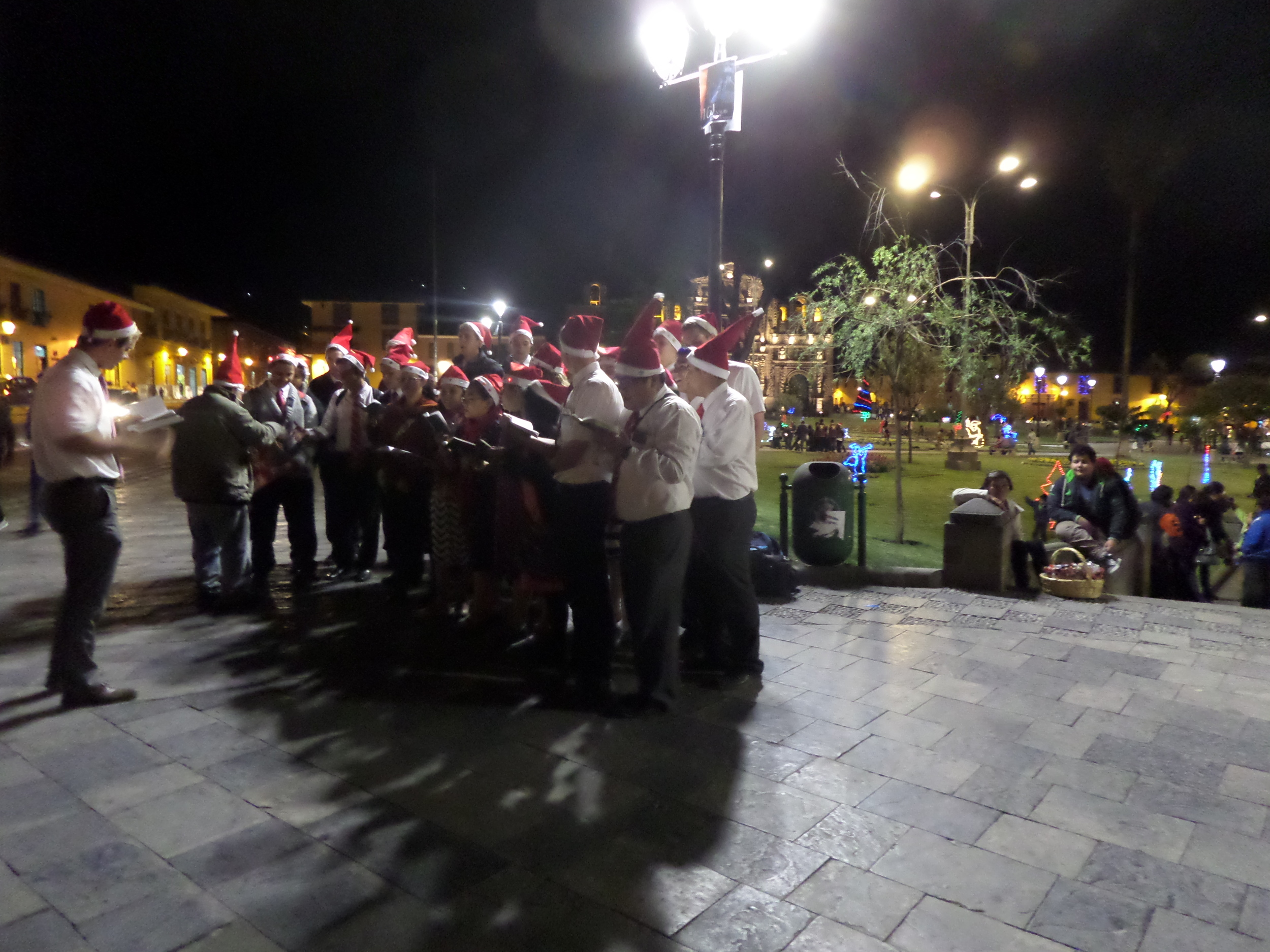 Two zones singing, bringing holiday cheer!