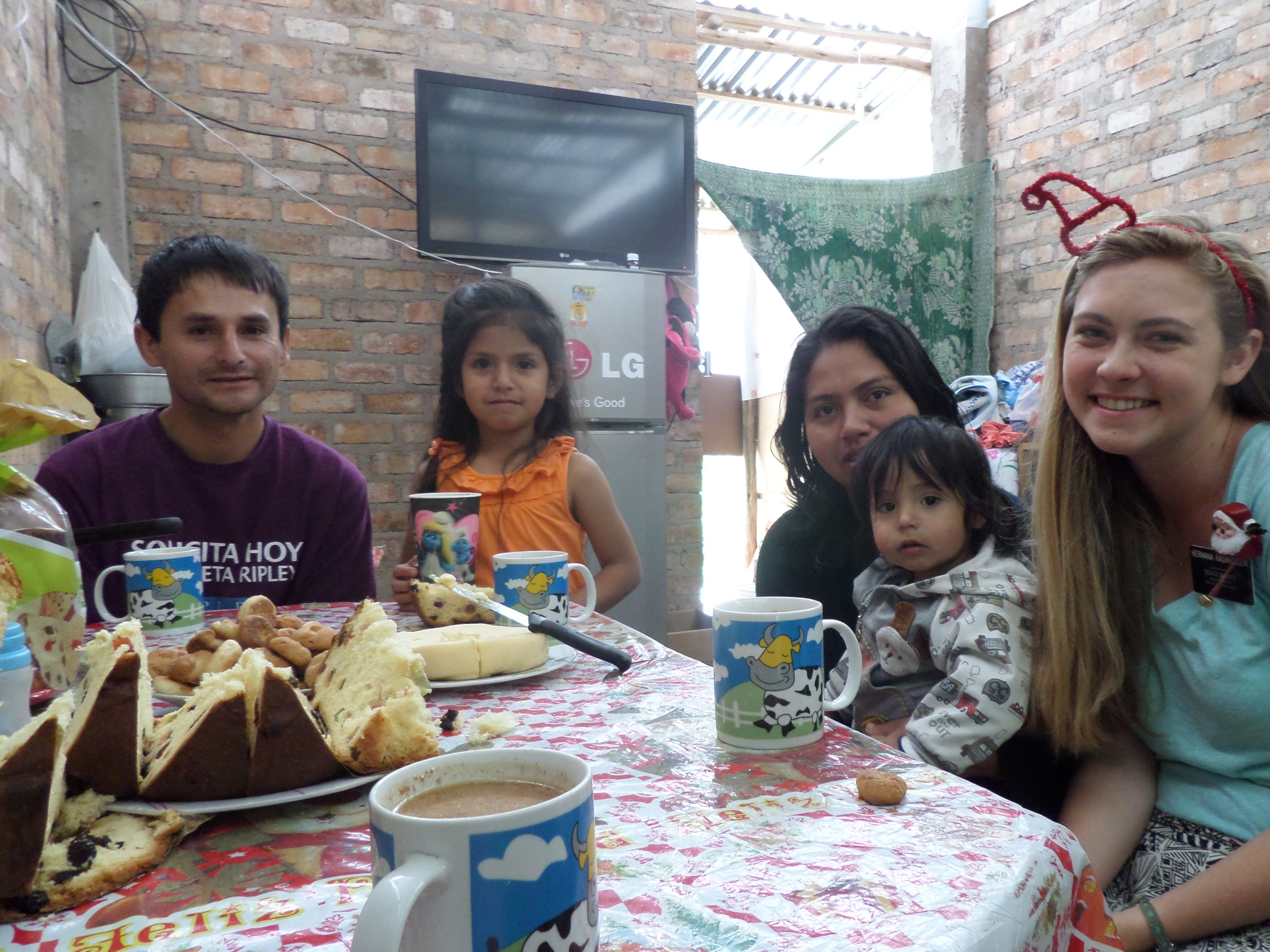 Christmas Breakfast with Mario and Melani.