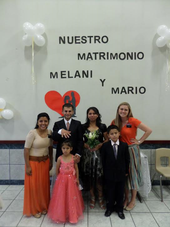 A new family! Congrats to Mario & Melani.