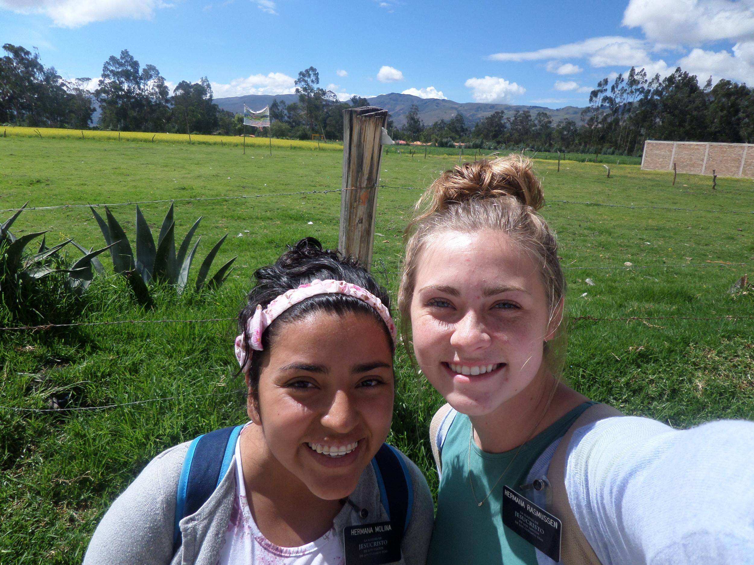 With Hermana Molina.