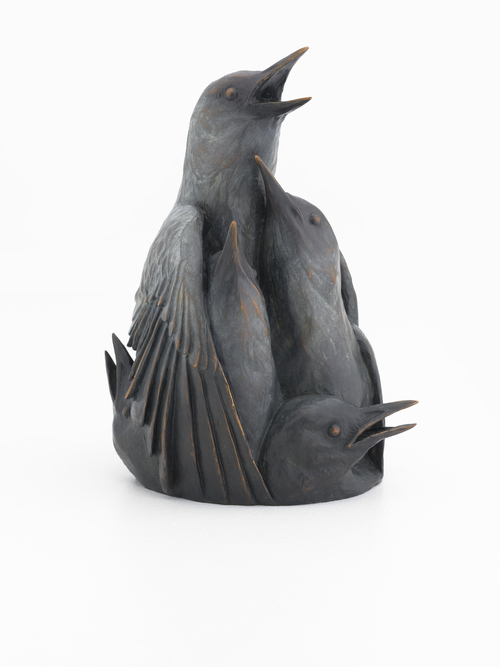 Katherine Rutecki,  Issue,  bronze, 13x13x22cm, 2014