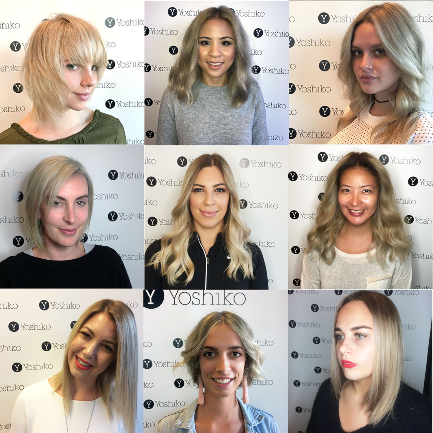 st kilda hairdresser yoshiko hair blonde clients